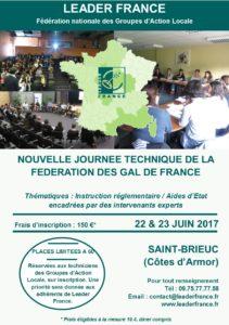 Nouvelle Journée Technique LEADER France @ Saint-Brieuc