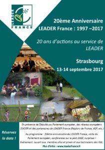 20ème anniversaire LEADER France @ Strasbourg
